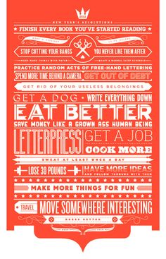 Typography poster design on new year resolutions Typography Inspiration, Graphic Design Inspiration, Daily Inspiration, Layout Inspiration, Typography Letters, Typography Design, Quote Typography, Poster S, Typographic Poster