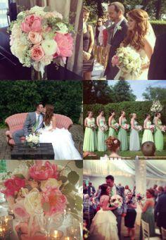 June Wedding in Summer Greens & Pinks