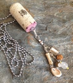 Upcycled Wine Cork Necklace  Mix and match by DesignsByDenisia, $8.99