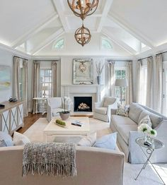 17 luxury living room interior design ideas for mod&; 17 luxury living room interior design ideas for mod&; Home Living Room, Interior Design Living Room, Living Room Designs, Living Spaces, Apartment Living, Cool Living Room Ideas, White Living Rooms, Open Kitchen And Living Room, Apartment Goals