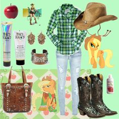 My Little Pony: Applejack, created by deadbunnybaby on Polyvore