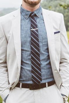 thetieguy: this is great look! however, this is NOT how to wear a tie bar. make sure its never longer than the tie itself.