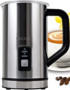 Secura Automatic Electric Milk Frother and Warmer Frothers Coffee Tea Bar for sale online Cappuccino Art, Best Electric Scooter, Specialty Appliances, Small Kitchen Appliances, Brush Cleaner, Vacuums, Cleaning, Steamers, Milk Frothers