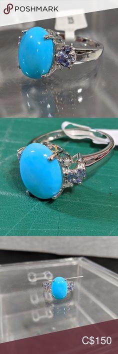 SilverTurquoiseTanzaniteDiamond Ring (w/Paperwork) Womens Jewelry Rings, Jewelry Box, Women Jewelry, Tanzanite Stone, Size 10 Rings, Plus Fashion, Fashion Tips, Fashion Trends, Natural Diamonds