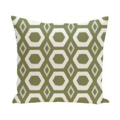 E by Design More Hugs And Kisses Decorative Pillow Green Polyester - PGN220GR19-18