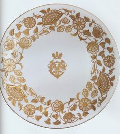 "China plate, with the center monogram of Cornelius Vanderbilt 11, that was used in the Gilded Age Newport RI, ""cottage"", The Breakers"