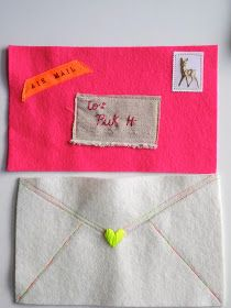 One Bunting Away: Felt Envelopes