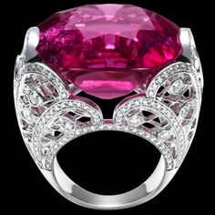 White gold Rubellites Diamond Ring G34LZ800 - Piaget Luxury Jewelry Online