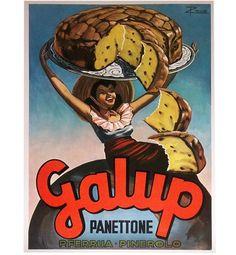 Manifesto pubblicitario panettone Galup - advertisement poster