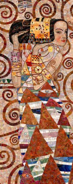 Климт фрагмент мозаики
