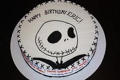 Love this Jack Skellington Cake by BECCA'S blue BAKERY. Perfect for Halloween!!