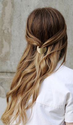 Barrette Hairstyles Alluring Such A Pretty Gold Leaf Barrette Love This  Pinterest