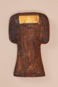 Bat Amulet of Hapiankhtifi    Period:      Middle Kingdom  Dynasty:      Dynasty 12  Date:      ca. 1981–1802 B.C.  Geography:      Egypt, Middle Egypt, Meir (Mir), Tomb of Hapiankhtifi, Mummy, Khashaba  Medium:      Wood, gold leaf