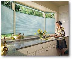 For the kitchen - Hunter Douglas blinds