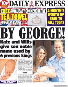 Welcome Prince George Alexander Louis of Cambridge