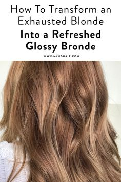 How To Transform an Exhausted Blonde into a Fresh Bronde Brassy Blonde, Dark Blonde Hair Color, Hair Color Auburn, Auburn Hair, Spring Hairstyles, Cool Hairstyles, Wella Color Fresh, Hair Color Wheel, Subtle Balayage