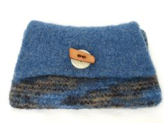 Knitted Felted Envelope Style Purse With by EtsyBetsyBits on Etsy