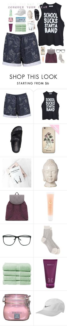 """""""☾ daisies perched upon your forehead"""" by thundxrstorms ❤ liked on Polyvore featuring High Heels Suicide, Emissary, Lancôme, Maria La Rosa, Christy, Lalique, Borghese, NIKE, banila co. and nicolewantstoseethisPART"""