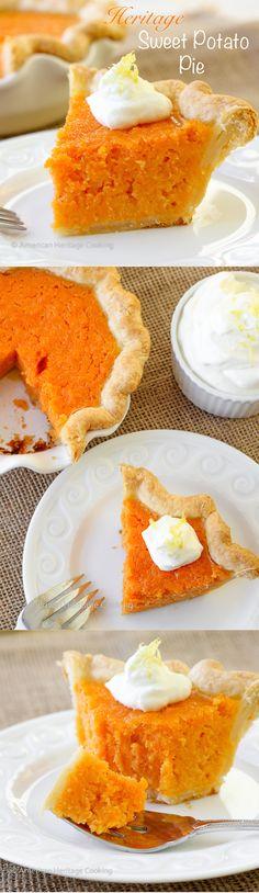 Randolph's Sweet Potato Pie Move over pumpkin pie.Heirloom Sweet Potato Pie is here! Quiches, Pie Dessert, Dessert Recipes, Just Desserts, Delicious Desserts, Think Food, Potato Pie, Sweet Pie, Sweet Potato Recipes