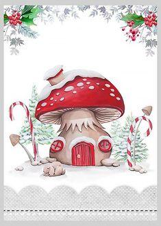 Christmas Mushroom Christmas House Copy - By: Victoria Nelson Christmas Rock, Christmas Gnome, All Things Christmas, Vintage Christmas, Christmas Holidays, Christmas Crafts, Christmas Decorations, Christmas Costumes, Christmas Clipart