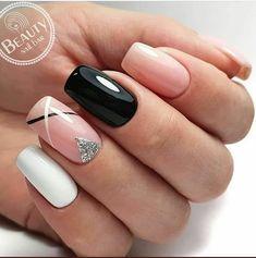 33 Natural Acrylic Black Almond & Square Nail Designs For Short Nails Nails Art Ideas Square Nail Designs, Black Nail Designs, Short Nail Designs, Nail Art Designs, Stylish Nails, Trendy Nails, Cute Acrylic Nails, Cute Nails, Cute Short Nails