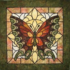 monogrammed Quilt patterns | Stained Glass Butterfly/Dragonfly Quilt - Quilting Adventures