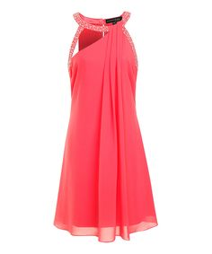 Look at this #zulilyfind! Pink Chloe Dress by London Dress Company #zulilyfinds