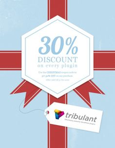 "Christmas 2012 Promotion at Tribulant Software. Use ""CHRISTMAS"" (without quotes) to get effortlessly powerful premium plugins at 30% off! http://Tribulant.com"