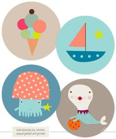 One Good Thing: Wood Panel Art Prints forKids - Home - Creature Comforts - daily inspiration, style, diy projects + freebies