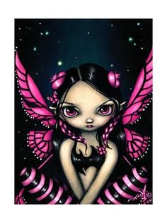 Art Print: Pink Butterfly Fairy by Jasmine Becket-Griffith : 24x18in