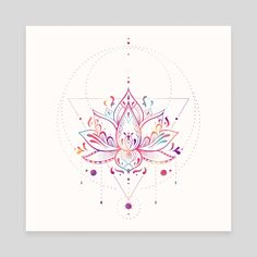 Lotus Prism, an art canvas by Nayla Smith - Drawing - Henna Designs Hand Lotus Flower Art, Watercolor Flower, Lotus Art, Watercolor Lotus Tattoo, Lotus Flower Drawings, Lotus Flower Design, Lotus Henna, Lotus Mandala, Mandala Tattoo