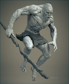 Troll - Based on a 2d concept by Anthony Jones. Realtime 3D creature concept created by Abner Marin Sanchez
