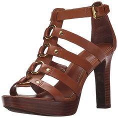 Lauren Ralph Lauren Women's Stasia Heeled Sandal >>> To view further, visit now : Block heel sandals