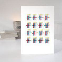 80th Birthday Card minimalist design with 80 by PurposeandWorthetc