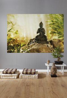 Buddha  Buddhafigur auf einer Quelle im Bambuswald.  http://www.fototapete.de/index.php/buddha.html