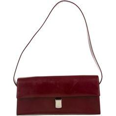 Pre-owned Furla Shoulder Bag ($125) ❤ liked on Polyvore featuring bags, handbags, shoulder bags, burgundy, genuine leather purse, genuine leather shoulder bag, furla purses, leather purse and furla handbags