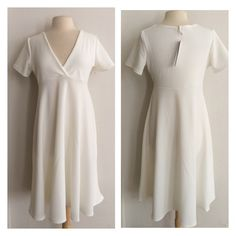 "(Plus) White dress White dress. Very stretchy! 96% polyester/ 4% spandex. True to size. Dress shown in photos is size 1x. Bust stretches well beyond each measurement. May require a slip 1x- L: 41"" • B: 38"" 2x- L: 42"" • B: 40"" 3x- L: 43"" • B: 42"" 1x•2x•3x • 2•1•2 Price is firm unless bundled. No trades ⭐️This is a retail item. It is brand new either with manufacturers tags, boutique tags, or in original packaging. Dresses"