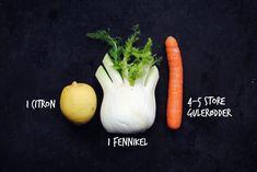 Juice med gulerødder og fennikel for dummies!