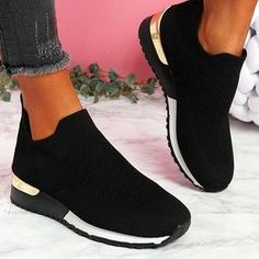 Brand Name: LYXLYHUpper Material: FlockHeel Height: High (5cm-8cm)With Platforms: NoOccasion: CasualSandal Type: Ankle-WrapHeel Type: Square heelLining Material: CanvasSide Vamp Type: OpenOutsole Material: RubberClosure Type: Buckle StrapFit: Fits true to size, take your normal sizeBack Counter Type: Back StrapFashion Tenis Casual, Casual Shoes, Women's Casual, Casual Summer, Zapatos Slip On, Plus Size Womens Shoes, How To Stretch Shoes, Slip On Sneakers, Sneakers Women