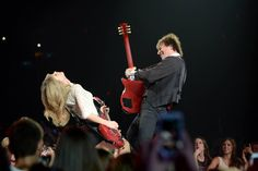 Taylor Swift on her first of two nights at Jobing.com Arena for The RED Tour. Photo credit: Norm Hall/Jobing.com Arena