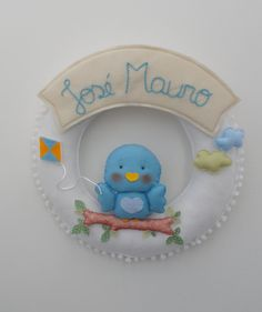 Felt wreath baby name