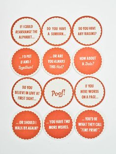 Pick-Up Line Coasters
