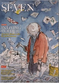 Quentin Blake's illustration of himself at 80 for the Sunday Telegraph Seven magazine.
