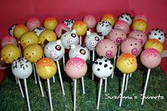 Cake Pops Barnyard Animals