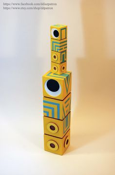 Baby and Daddy Totem. Monument Valley Game figure.