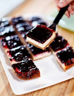 Blackberry cheese cake squares