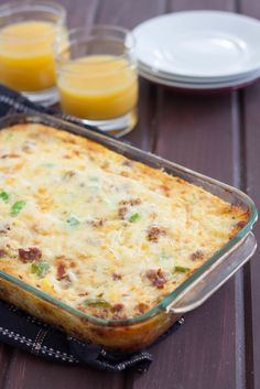 Actually HEALTHY *and* delicious, this low carb breakfast bake recipe is perfect for weekend mornings. Make an extra casserole for easy, healthy weekday breakfasts because it reheats really well!
