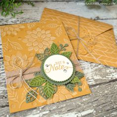 Shadow Stamped card created by Artisan Design Team member, Connie Collins featuring the Flourishing Phrases bundle.