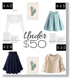"""under $50"" by littlelook on Polyvore featuring Chicwish, Urban Outfitters, under50 and skirtunder50"