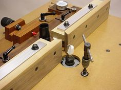 The ultimate router table and fence.  The tap handle for height adjuster is unique.